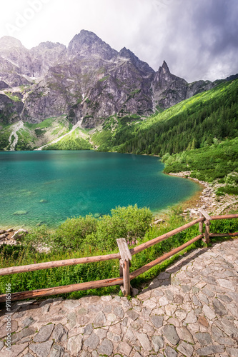 Lake in the Tatra Mountains at summer © shaiith