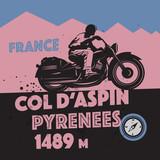 Fototapety Vintage Motorcycle adventure poster