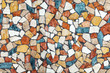 Colorful stone mosaic with chaotic pattern, seamless