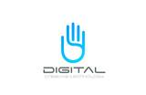 Artificial Intelligence Hand Logo Business design vector - 91185313