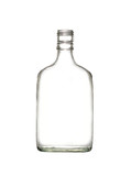 Empty colorless glass bottle poster