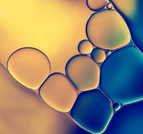 Fototapety Abstract background with oil drops on water