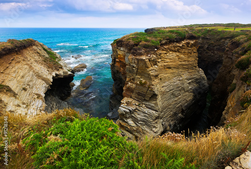 Cliffs Cantabric coast of Spain