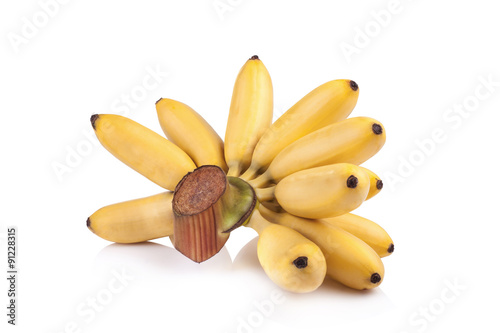 poster of Pisang Mas yellow banana on white