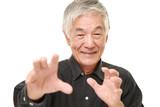 senior Japanese man with supernatural power poster