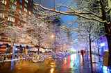 Winter snowfall in New York