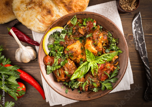obraz PCV Chakhokhbili Chicken stewed with tomatoes and herbs above