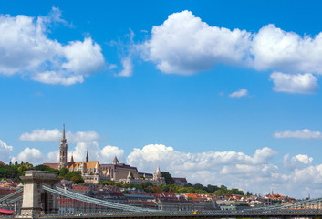 Panoramic view of city Budapest - the capital of Hungary