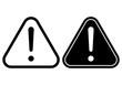 Danger warning attention hazard sign. Vector icon