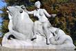 """Leinwanddruck Bild - Skulptur """"Allegorie der Segenskraft"""", eine der beiden seitlichen Figuren am Wittelsbacherbrunnen (errichtet 1893-1895), München, Lenbachplatz."""