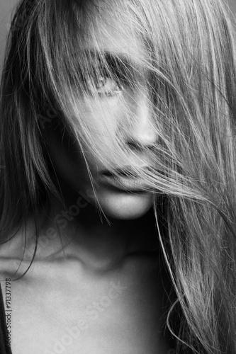 Portrait of young beautiful girl with blonde hair © olgakudryashova