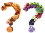 Fototapety Healthy unhealthy food choices