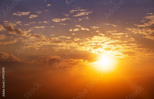 Foto op Aluminium Strand Beautiful sunset sky. Sky Background.