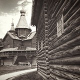 Churh in open-air museum of Wooden Architecture. Novgorod Veliky.  poster