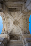 Triumphal arch from Augusta street. Lisbon.