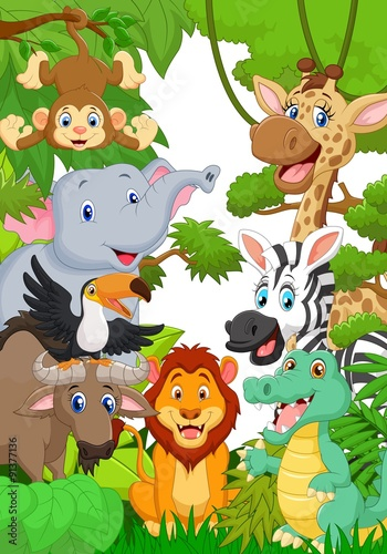 Poster Wild  animal  in the jungle