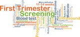 First trimester screening background concept poster