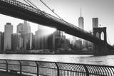Fototapety Brooklyn bridge at sunset