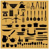 Icone attrezzi da cucina