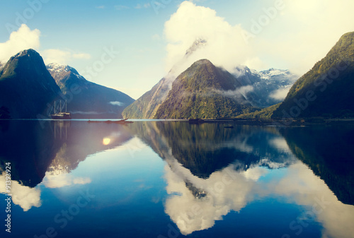 Milford Sound Fiordland New Zealand Rural Nature Concept - 91393924