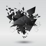 Fototapety Abstract black explosion. Vector illustration.
