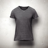 Dark  t-shirt isolated on grey background