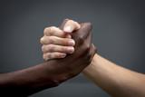 Handschlag, Hände Schwarz und Weiss