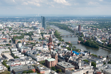 Skyline of Frankfurt city in Germany