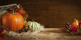 Fototapety Rustic autumn still life with copy space