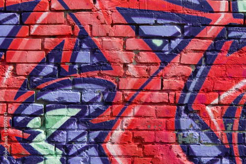 Plexiglas Graffiti graffiti wall background / closeup