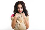 Barbie girl with teddy bear