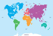 Постер, плакат: Continents of the World Map