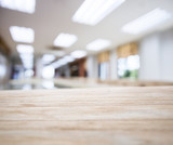 Table top with Blurred Office space Interior Background