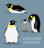 Emperor Penguin Cartoon Vector Illustration