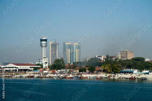 Tuinposter Zanzibar tanzania dar es salaam view