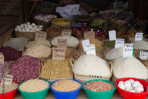 Fotobehang Zanzibar market place in zanzibar