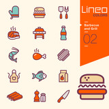 Lineo Colors - Barbecue and Grill icons