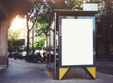 Fototapety Bus stop mockup