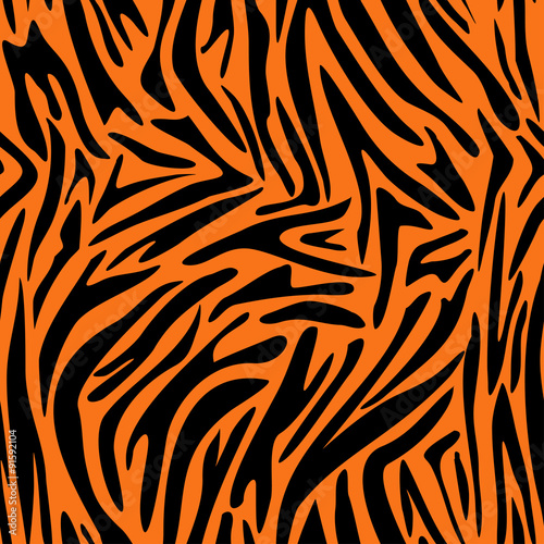 Cotton fabric Abstract animal skin pattern. Zebra, tiger stripes. Seamless tiger background texture. Fabric design.
