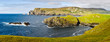 Panorama of coast with rocks near the village of Glenkolmkille, County Donegal, Ireland