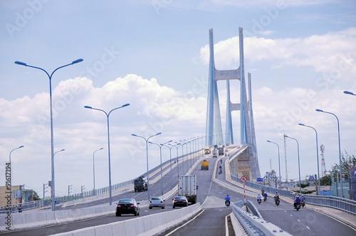 The Phu My bridge over the Saigon river in Ho Chi Minh city, Vietnam © danhvc