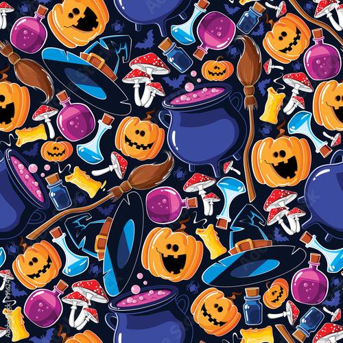 Materiał do szycia Seamless pattern Halloween