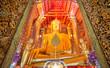 Golden Buddha Statue at Wat Phanan Choeng temple