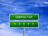 Gibraltar welcome travel landmark landscape map tourism immigration refugees migrant business. poster