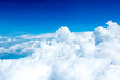 Aerial view of Blue sky and Cloud Top view from airplane window, - 91685185