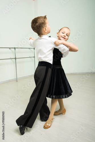 Dancing, ballroom dancing, dance studio, children Plakát
