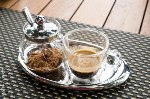Papiers peints Café en grains espresso cup with brown sugar