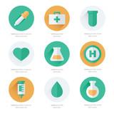 medical Flat Icons Design