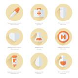 medical Flat Icons Design 2 color
