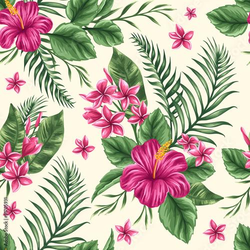 Stoffe zum Nähen Nahtlose Blumenmuster